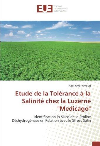 Etude de la Tolérance à la Salinité: Adel Amar AMOURI