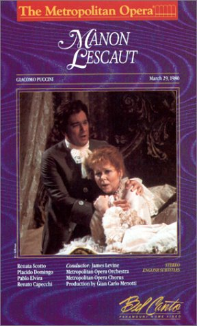 9786300217645: Puccini - Manon Lescaut / Levine, Scotto, Domingo, Metropolitan Opera [VHS]