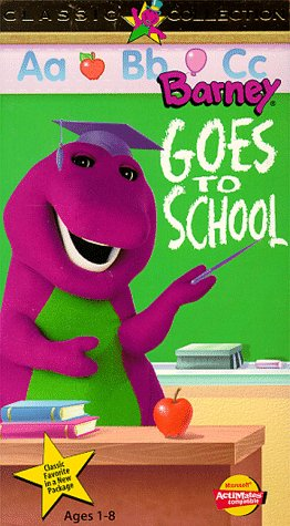 9786301724401: Barney Goes to School [VHS]