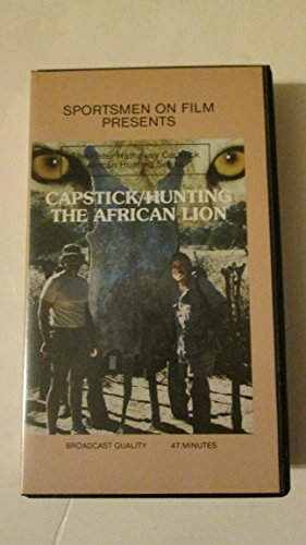9786301868617: Capstick - Hunting the African Lion [VHS]