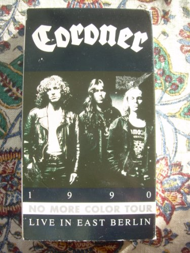 9786301910408: Coroner - 1990 No More Color Tour Live in East Berlin [VHS]