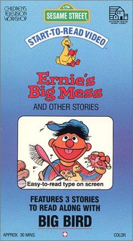9786302276169: Sesame Street - Start-To-Read Video: Ernie's Big Mess [VHS]