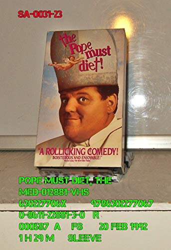 9786302277067: The Pope Must Diet [VHS]