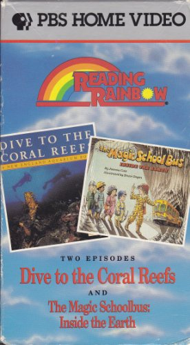 9786302477504: The Reading Rainbow: Dive to the Coral Reef / The Magic School Bus Inside the Earth [VHS]