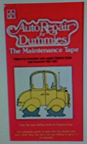 9786302645408: Auto Repair for Dummies: The Maintenance Tape [VHS]