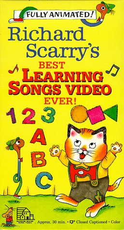 9786302777284: Richard Scarry's Best Learning Songs Video Ever! [VHS]
