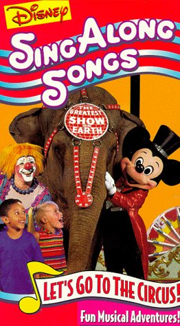 9786303036946: Disney Sing Along Songs: Let's Go to the Circus [VHS] [Import USA]