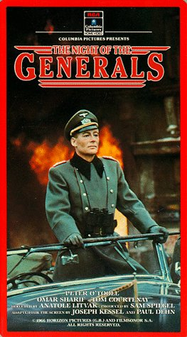 9786303451534: The Night of the Generals [VHS]