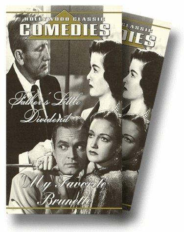 9786303466316: My Favorite Brunette/Father's Little Dividend [VHS]