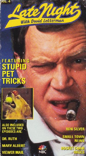 9786303491172: Late Night with David Letterman: Stupid Pet Tricks [VHS]