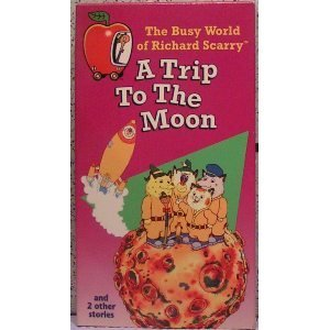 9786303998497: The Busy World of Richard Scarry - A Trip to the Moon [VHS]