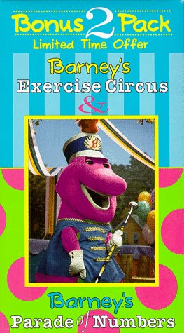9786304095782: Barney's Exercise Circus & Parade of Numbers [VHS]