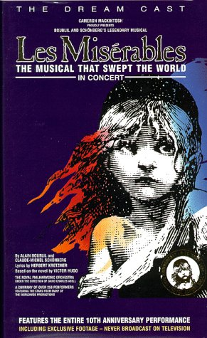 9786304180020: Les Miserables - The Dream Cast in Concert [VHS]