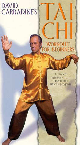 9786304945766: David Carradine's Tai Chi Workout for Beginners [VHS]