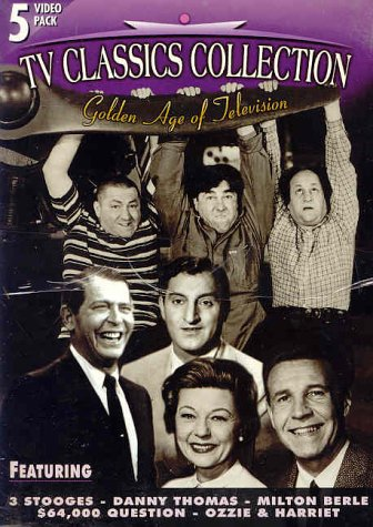 9786304990193: Golden Age Of Television * TV CLASSICS COLLECTION [5 VHS Box Set] The Danny Thomas Show, The Three Stooges, The 64,000 Question, Ozzie & Harriet
