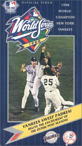 9786305180821: 1998 Official World Series Video - New York Yankees vs. San Diego Padres [VHS]