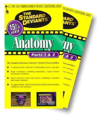 9786305216902: The Standard Deviants - Anatomy, Parts 1 & 2 [VHS]