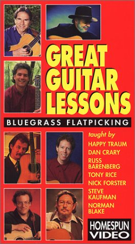 9786305277712: Great Guitar Lessons Bluegrass Flatpicking [VHS]