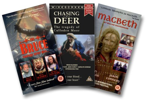 9786305813880: Scottish Film Trilogy { The Bruce } { Macbeth } { Chasing the Dear } [VHS]