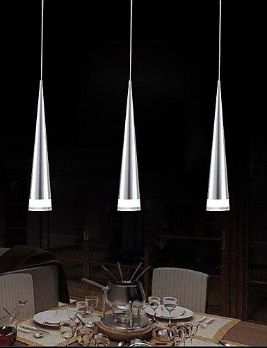 9786432786217: hdys moderna lámpara colgante Bar, 3ligera, transparente acrílico metal chapado, 110V-240V. (estilo alta calidad completa)