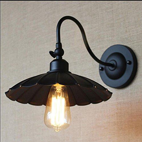9786432825213: xbzz lámpara de industria industriales retro candelabro de pared latón retro lámpara pared iluminación vidrio lámpara (sin el bulbo)