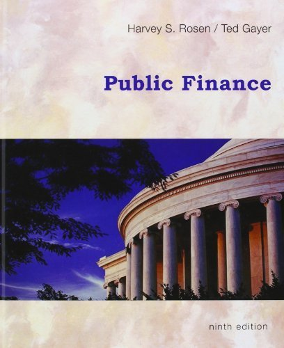 9786600191249: Public Finance, 9th Edition 9th (ninth) by Harvey S. Rosen, Ted Gayer (2009) Hardcover