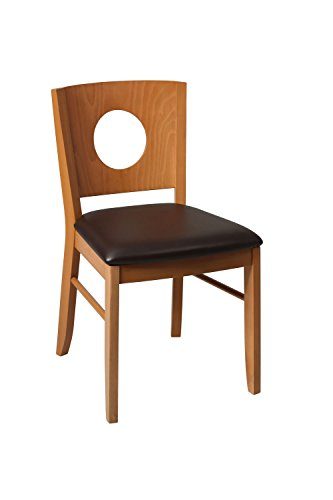 9786665552511: Gazoni kitchen dining chair fully assembled wenge,walnut or oak frame