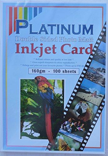 9787009599186: 100 Sheets A4 Platinum 160GSM Double Sided Photo Matt / Matte Card