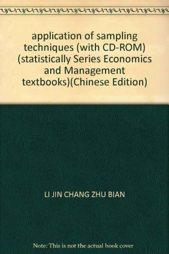 application of sampling techniques (with CD-ROM) (statistically Series Economics and Management ...