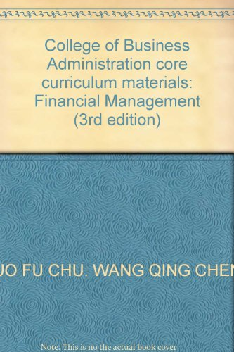 Genuine Books 9787040273304 Financial Management ( 3rd Edition )(Chinese Edition): GUO FU CHU