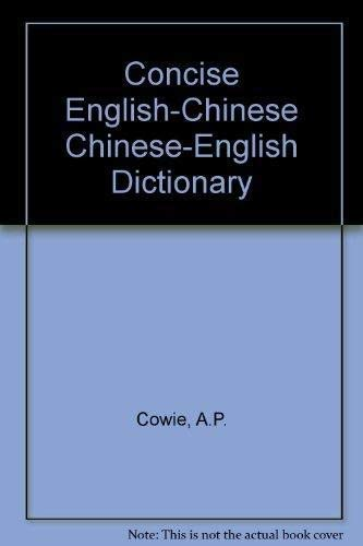 9787100005890: Concise Chinese-English Dictionary
