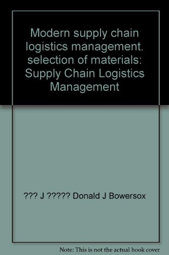 Modern supply chain logistics management. selection of: BAO ER SUO