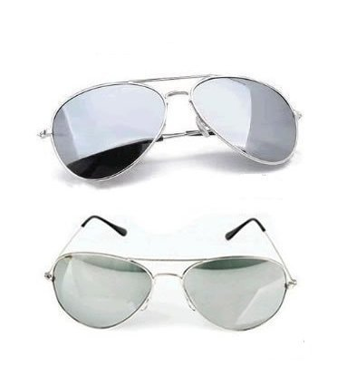9787293005288: Twin Pack - His & Hers Adult Medium / Mini Silver Full Mirrored Aviator Sunglasses Complete with 2 x Cleaning Cloths 2 x Micro Fibre Bags 2 x Matching Cords offering Full UV400 Protection Cat 4 Lenses