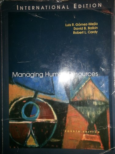 9787300054735: Managing Human Resources (International Edition)