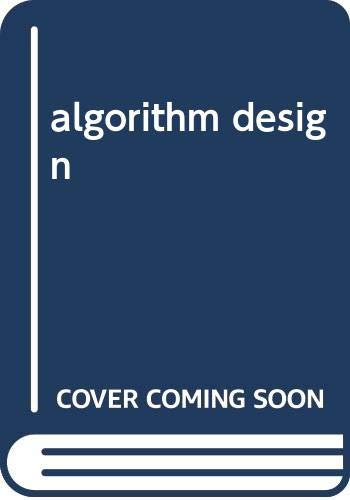 9787302122609: algorithm design