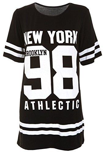 9787397578473: Ladies USA American Varsity Baseball Oversize Baggy T Shirt Top Dress