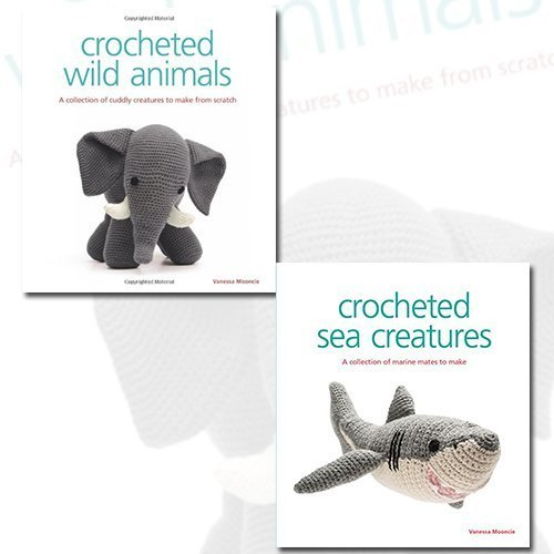 9787421174879: Vanessa Mooncie 2 Books Bundle Collection (Crocheted Wild Animals, Crocheted Sea Creatures: A Collection of Marine Mates to Make)