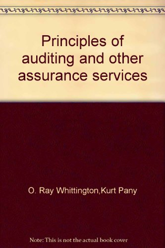 Principles of auditing and other assurance services(Chinese Edition): MEI)O. Ray Whittington.(MEI)...