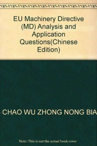 EU Machinery Directive (MD) Analysis and Application: WANG CHAO WU