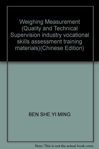 Weighing Measurement (Quality and Technical Supervision industry: BEN SHE.YI MING