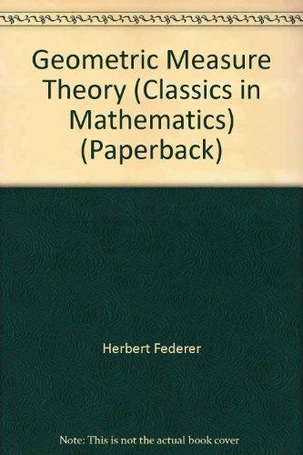 9787506266260: Geometric Measure Theory (Classics in Mathematics) (Paperback)