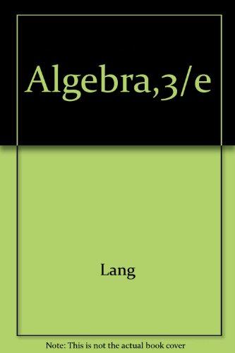 9787506271844: Algebra,3/e
