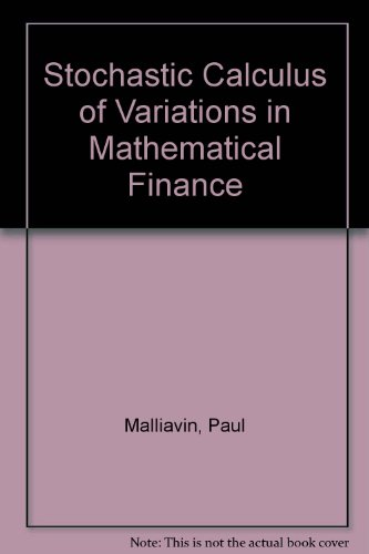 9787506272957: Stochastic Calculus of Variations in Mathematical Finance