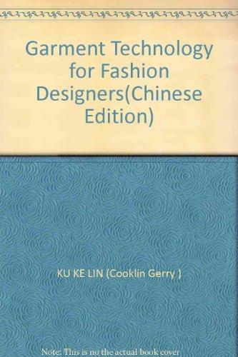 9787506429573 Garment Technology For Fashion Designers Abebooks Ku Ke Lin Cooklin Gerry 7506429578