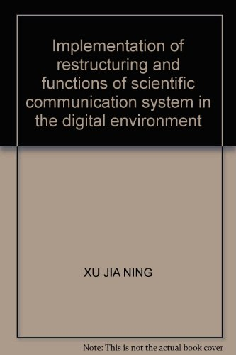 Implementation of restructuring and functions of scientific: XU JIA NING