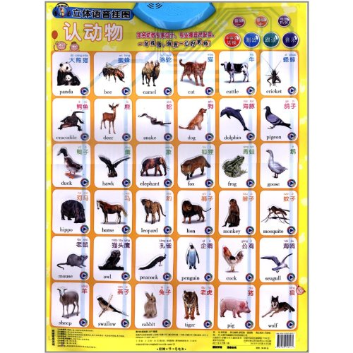 9787539748177: Animals-Golden Gourd Solid Pinyin Wall Map (Chinese Edition)