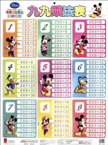 multiplication table ( Disney Mickey Mouse Clubhouse three