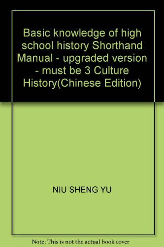 Basic knowledge of high school history Shorthand: NIU SHENG YU