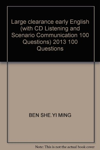 Large clearance early English (with CD Listening and Scenario Communication 100 Questions) 2013 100...