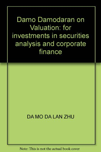 New Genuine ] Dharma Dhahran on Valuation : corporate finance for investment and securities ...